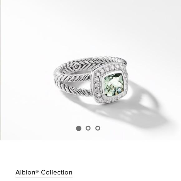 David Yurman Jewelry - Petite Albion Ring with Prasiolite and Diamonds